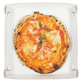 Cartone pizza margherita isolato