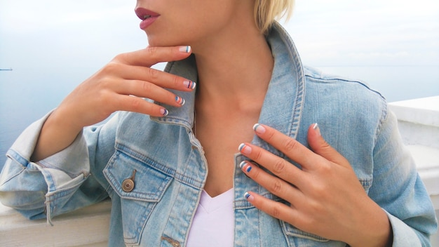 Design delle unghie marine