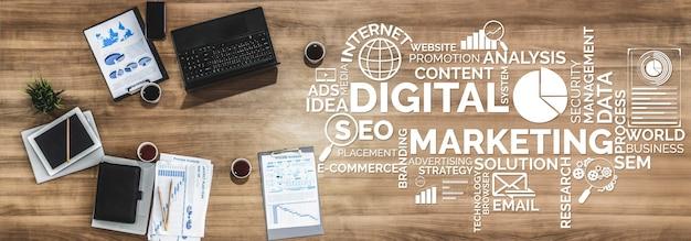 Marketing della tecnologia digitale business concept