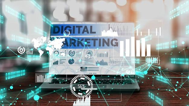 Marketing della tecnologia digitale business concettuale