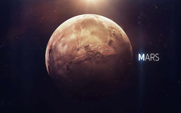 Marte - la bellissima arte ad alta risoluzione presenta il pianeta del sistema solare