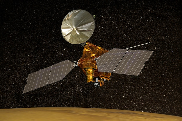 Satellite di marte nello spazio esterno elementi di questa immagine fornita dalla nasa d illustrazione