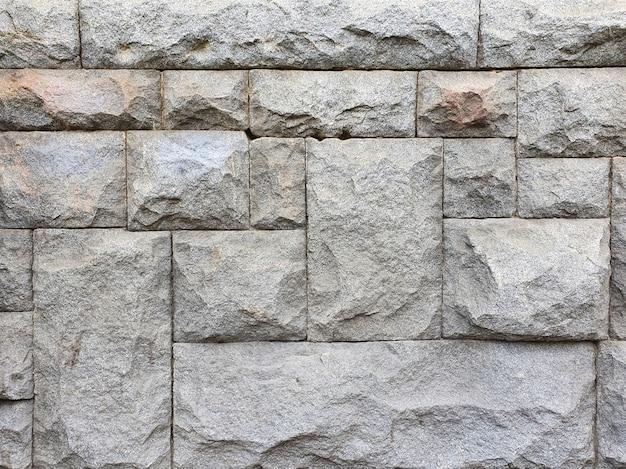 Muratura con pietre di diverse dimensioni. texture, vista dall'alto.