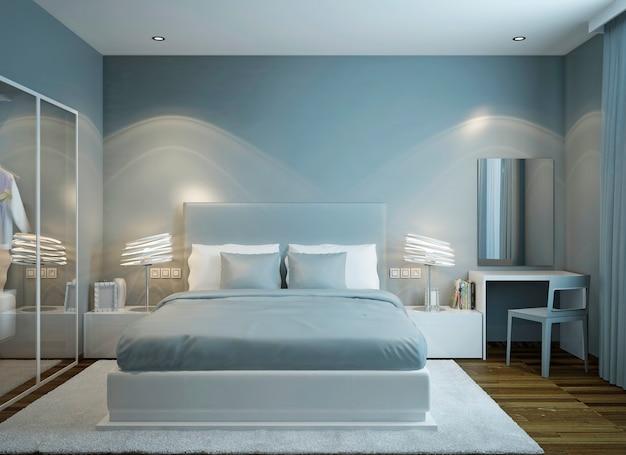 Design in stile scandinavo della camera da letto principale