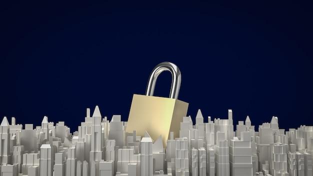 La chiave principale e la costruzione della città per il rendering 3d di contenuti medici
