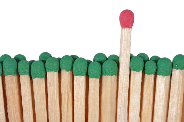 Partite - concetto di leadership su sfondo bianco