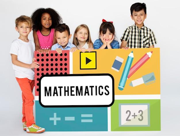 Grafico educativo per il calcolo delle formule matematiche