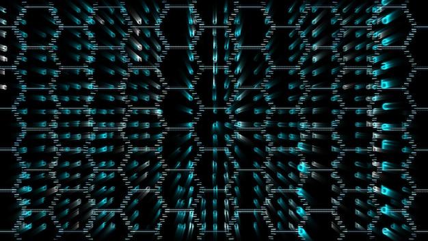 Matrice alfabeto dimensione esagonale lava colore astratto sfondo del testo