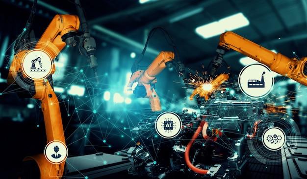 Braccio robotico industriale meccanizzato per l'assemblaggio nella linea di produzione in fabbrica