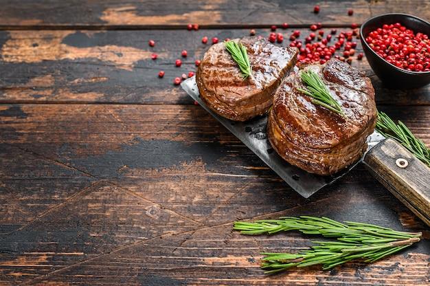 Bistecche di medaglioni dal filetto di manzo