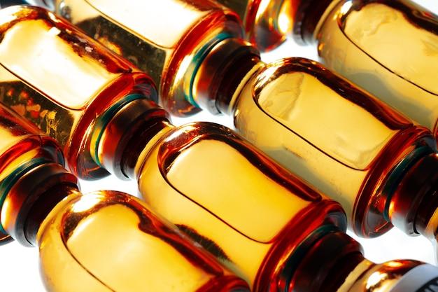 Sfondo medico di fiale fiale per iniezioni