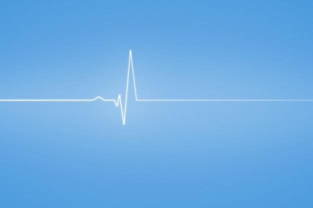 Sfondo medico con linea blu ecg