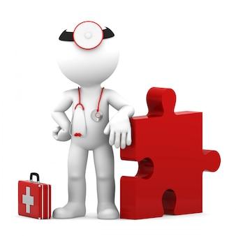 Sfida medica. isolato Foto Premium