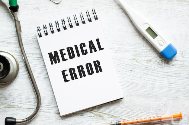 Medical error è scritto su un taccuino
