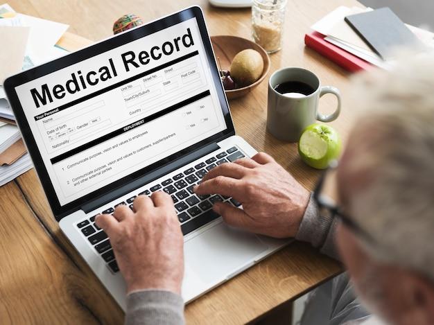 Referto medico record modulo storia paziente concept patient