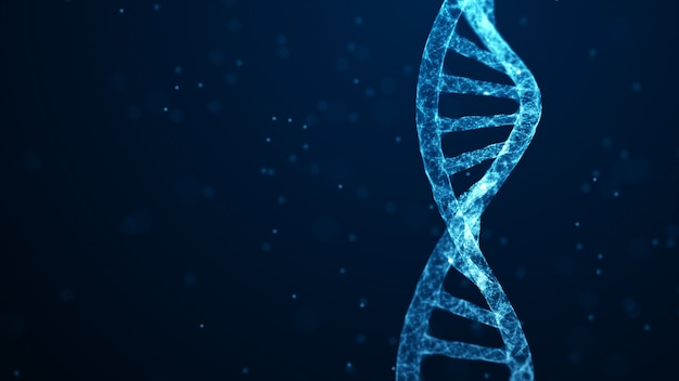 Scienza medica, biotecnologia genetica, biologia chimica, concetto di cellula genetica