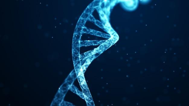 Scienza medica, biotecnologia genetica, biologia chimica, concetto di cellula genetica.