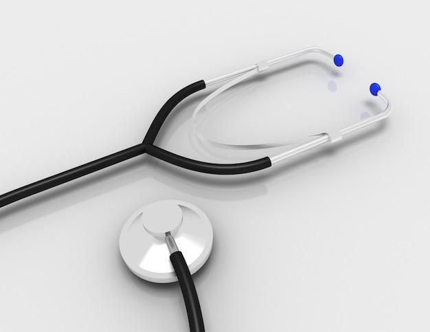 Stetoscopio medico. illustrazione 3d