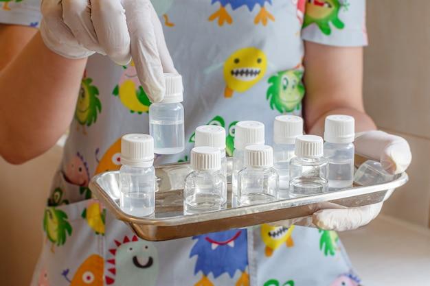 Fiale mediche medicinali soluzione per iniezione di vaccino medico