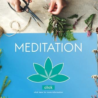 Meditazione healthcare lotus flower concept grafico