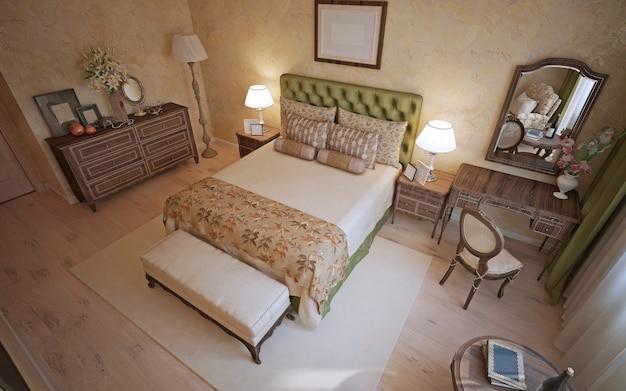 Tendenza della camera da letto mediterranea