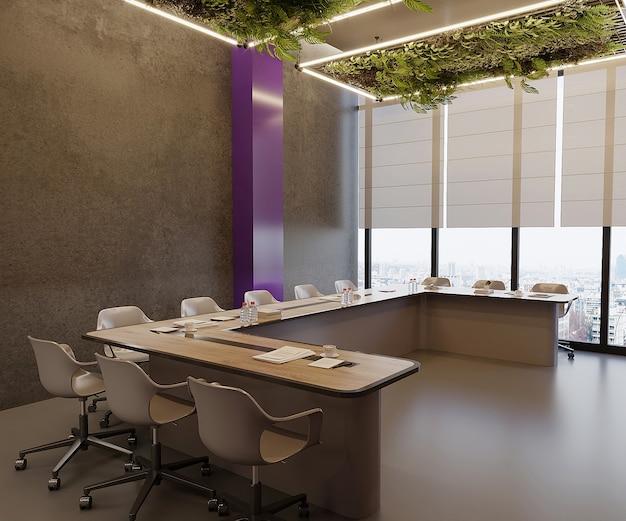 Sala riunioni con tavolo e sedie, gratuita