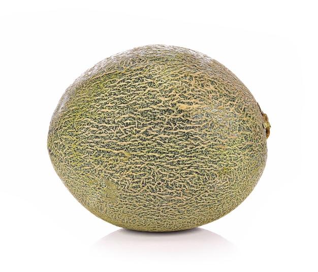 Melone frutta fresca isolata su sfondo bianco
