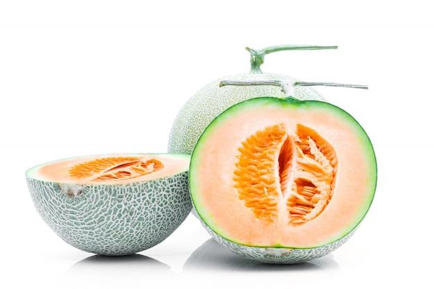 Frutta del melone su una priorità bassa bianca