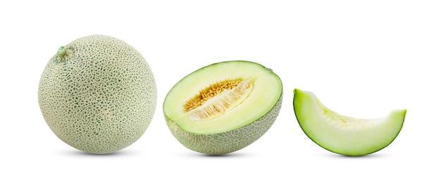 Fetta di melone isolata