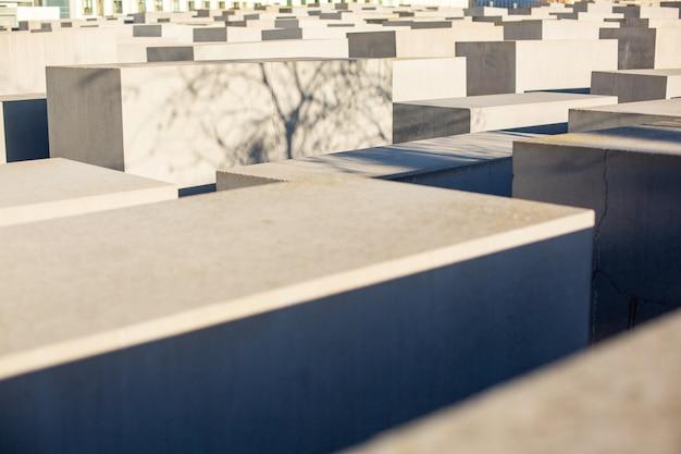 Memoriale per gli ebrei assassinati d'europa a berlino, germania, dicembre 2018.
