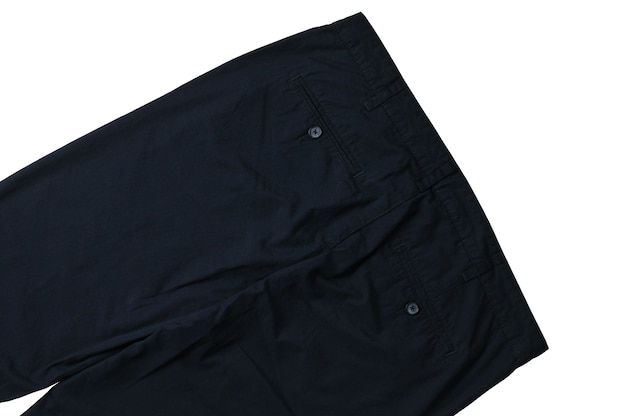 Pantaloni estivi da uomo su sfondo bianco isolato