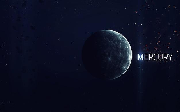 Mercurio - la bellissima arte ad alta risoluzione presenta il pianeta del sistema solare