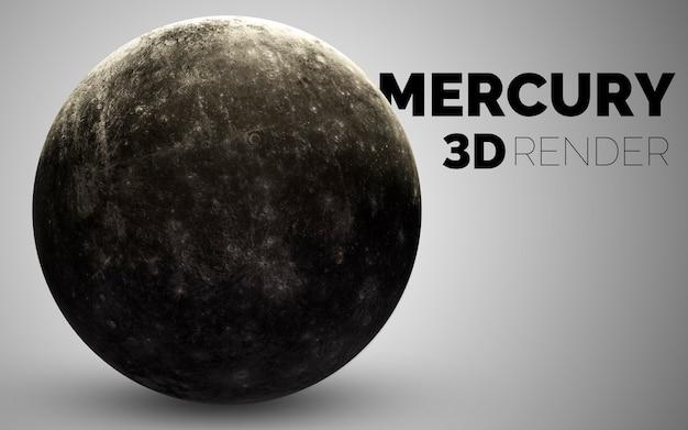 Mercurio. set di pianeti del sistema solare resi in 3d. elementi di questa immagine forniti dalla nasa