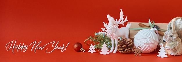 Cartolina d'auguri di buon natale e felice anno nuovo.