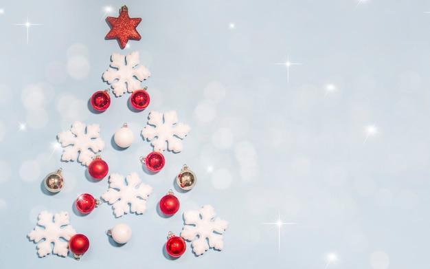 Buon natale e felice anno nuovo, auguri di vacanze con sfondo sfocato bokeh