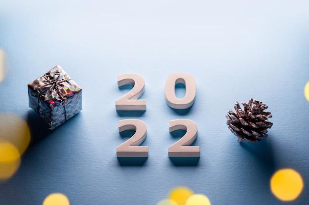Tema buon natale 2022felice anno nuovo 2022numeri 2022buon natale e felice anno nuovo 2022