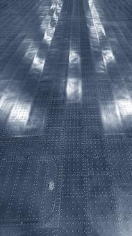 Pavimento metallico del magazzino. o il vano di carico dell'aereo.