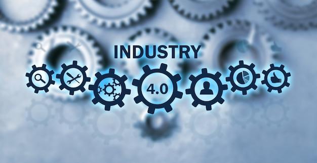 Meccanismo di ingranaggi in metallo. industria 4.0