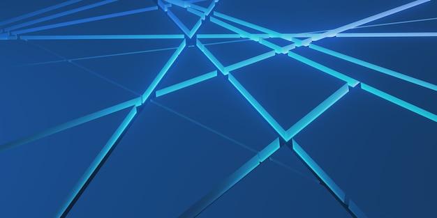 Sfondo di piastra metallica sovrapporre strati e decorare l'illustrazione 3d di effetti di luce