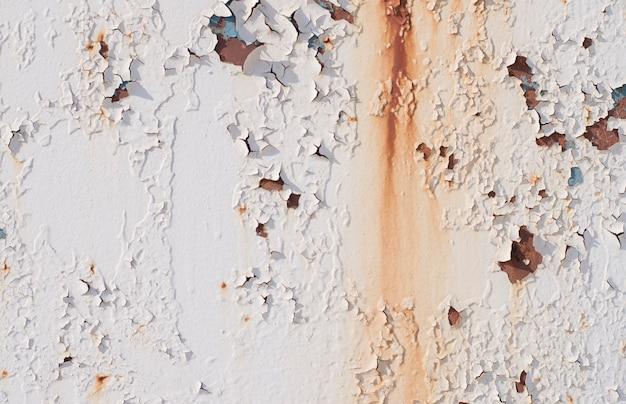 Struttura del metallo con vernice screpolata