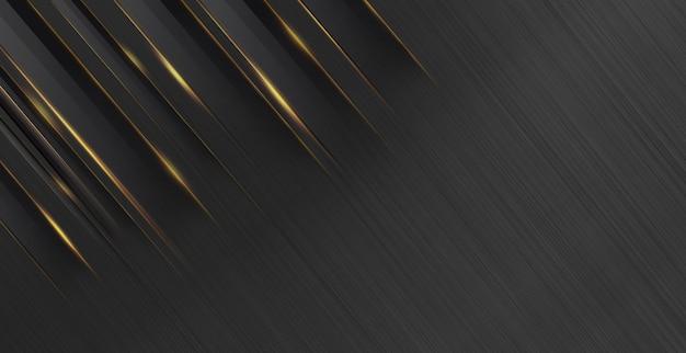 Struttura in metallo con sfondo astratto oro