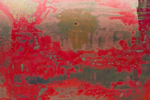 Struttura in metallo con graffi e crepe, muro di ruggine