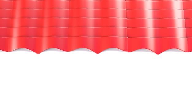 Fogli di piastrelle metalliche 3d rendering isolato su bianco
