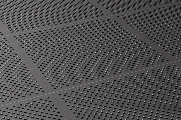 Pannello metallico perforato. illustrazione 3d