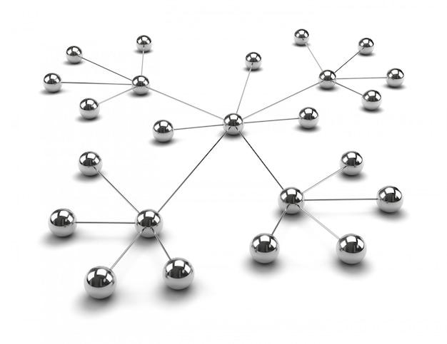Sfere metalliche collegate insieme