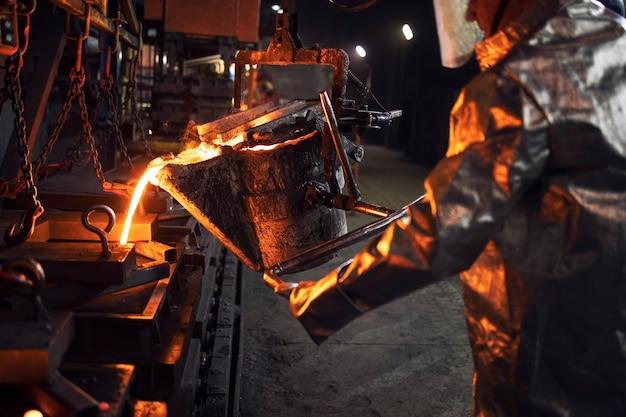 Metallurgia e produzione di acciaio.