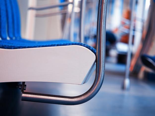 Sedile della metropolitana in dettaglio sfondo dell'oggetto hd