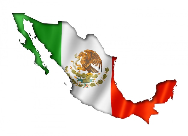 Mappa della bandiera messicana