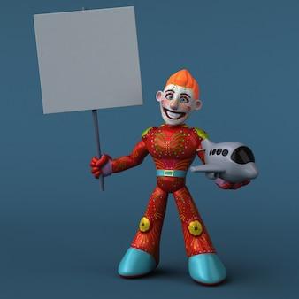 Illustrazione 3d dell'eroe messicano