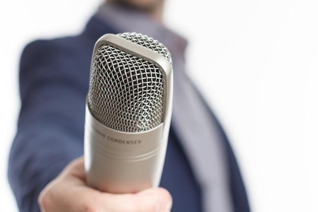 Microfono per intervista
